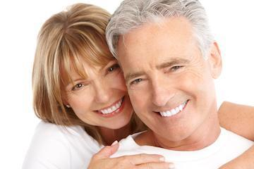 Older Man and woman smiling | Dentist Charlotte NC